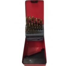 Metaalborencassette 25-delig 1-13mm om de 1/2