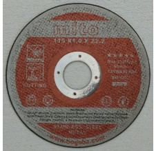 Doorslijpschijf staal 115 x 1,0 mm
